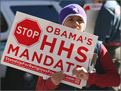 Stop Obama's HHS Mandate sign