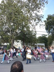 Sacred Heart students at Amistad Parade in Del Rio Texas